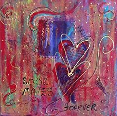 "Soul Mates by Betty Newman Mixed ~ 12"" x 12"""