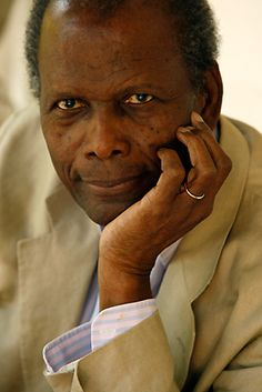 Sir Sidney Poitier, at his home in Beverly Hills, 2008.