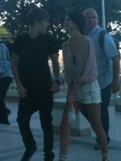 Justin Bieber and Selena Gomez in Brazil. October 2011