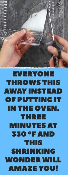 Everyone throws this away instead of putting it in the oven. Three minutes at 330 °F and this shrinking wonder will amaze your kids! Cute Crafts, Creative Crafts, Crafts To Make, Easy Crafts, Crafts For Kids, Arts And Crafts, Children Crafts, Hobbies And Crafts, Diy Projects To Try