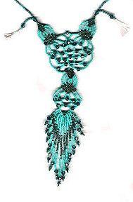 Beaded Filigree Necklace Pattern at Sova-Enterprises.com