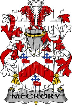 McCrory Family Crest apparel, McCrory Coat of Arms gifts