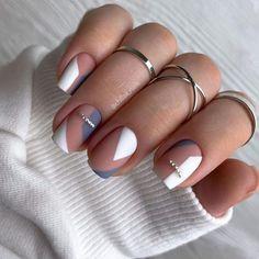 Frensh Nails, Chic Nails, Stylish Nails, Nail Manicure, Hair And Nails, Best Acrylic Nails, Acrylic Nail Designs, Nagellack Design, Minimalist Nails