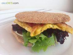 Cenas fáciles II: Sándwich mega rápido de tortilla de jamón - La dieta ALEA - blog de nutrición y dietética, trucos para adelgazar, recetas para adelgazar