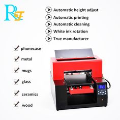 This is an size UV printer which can print phone case,metal,acrylic,glass,wood etc A3 Size, White Ink, Printer, Phone Cases, Cleaning, Ceramics, Mugs, Metal, Wood