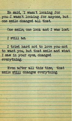 Cooommmee on. I wanna write something like this. But, I can't, the words. Cute Quotes, Great Quotes, Quotes To Live By, Inspirational Quotes, Smile Quotes, Qoutes, The Words, Just For You, Love You