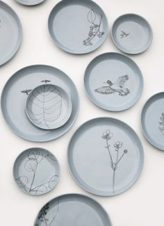 Collaboration between Elke van den Berg and Maartje van den Noort: 90 plates