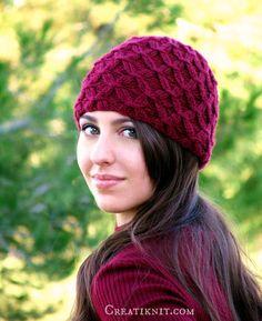 Diamante el patrón tejer tejer sombrero por CreatiKnit en Etsy