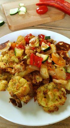 Meatless Monday Recept! Aardappels uit de oven met geroosterde groenten en halloumi | It's a Food Life