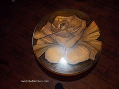 """Rose Stain """"painted"""" Small Accent Table"""