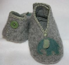 Old Hats From Felted Sweaters | felted baby booties from old sweaters. / knits and kits - Juxtapost