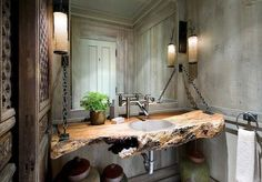 Cheap Bathroom Rustic Decorating Ideas | there are plenty of different styles to decorate the bathroom but the