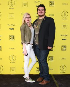 Jonathan Valdez and Jamee Gidwitz attend the opening of Seaport Studios in NYC Howard Hughes, Launch Party, Orange Juice, Vip, Biscuits, Studios, Product Launch, Crack Crackers, Cookies