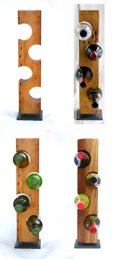 Modern Standing Wine Rack Smooth Light by KettlerWoodworks on Etsy