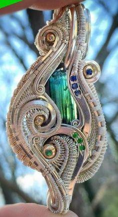 ©Merrick Noyes x Nick Noyes #wirewrap #jewelry #wirewrapjewelry