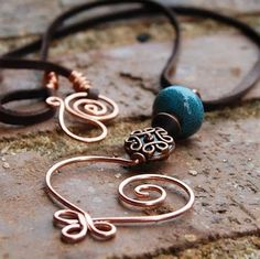 Copper Wire Jewelry | Hand Made Copper Wire Celtic Heart Necklace | jewelry