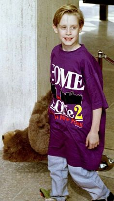 Macaulay Culkin in an oversized t-shirt