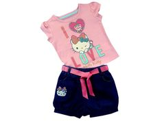 Hello Kitty Conjunto Casual para Niña-Liverpool es parte de MI vida