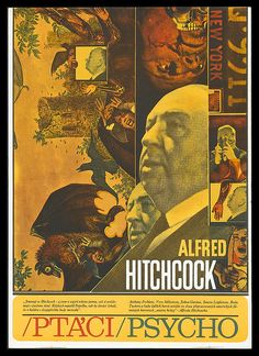 'Alfred Hitchcock's 'Psycho' in Classic Alfred Hitchcock poster reproduced by World of Art. Alfred Hitchcock, Hitchcock Film, Anthony Perkins, Alternative Movie Posters, Cool Posters, Classic Films, Vintage Movies, Cool Artwork, Trippy