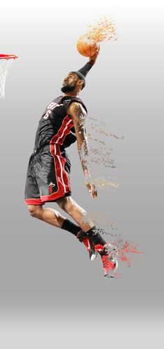 Lebron James Disintegrate effect on Behance