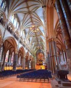 Lincoln Cathedral Nave by Non Paratus Cathedral Architecture, Ancient Greek Architecture, Gothic Architecture, Amazing Architecture, Norwich Cathedral, Lincoln Cathedral, Cathedral Church, Cool Places To Visit, Places To Go