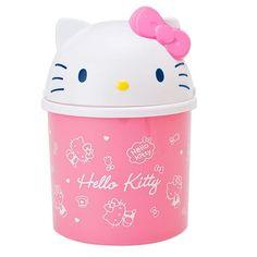 Original Sanrio Hello Kitty Face Top Mini Trash Can Bin Desktop Wastebasket  #Sanrio