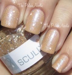 Nerd Lacquer Scully (1 coat) over Borghese Almondine. #indiepolish