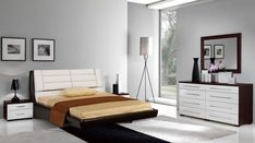 Romantic Italian Furniture Design With Teak-wood Frame Platform Bed Idea Feats Corner Tripod Floor Lamp