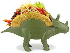 Amazon.com | TriceraTACO Taco Holder, Set of 1 - Dinosaur Novelty Taco Stand Party Plate Serveware - Holds 2 Tacos!: Plates