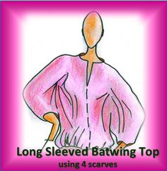 Short Scarves, Batwing Top, Long Scarf, Bat Wings, Stitching, Aurora Sleeping Beauty, Warm, Sewing, Videos