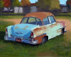 Chrysler Winsor by Larry DeGraff Oil ~ 9 x 12