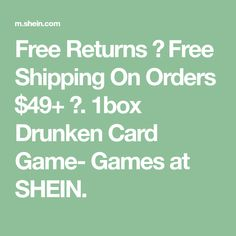 Free Returns ✓ Free Shipping On Orders $49+ ✓. 1box Drunken Card Game- Games at SHEIN. Couples Game Night, Heeled Mules Sandals, Suede Pants, Clouds Pattern, Wind Jacket, Wrap Blouse, Palazzo Pants, Pocket Detail, Box