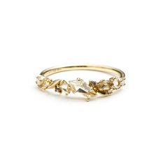 Golden Ice Marquis Small Cluster Band Ring in 18k Gold | Alexis Bittar