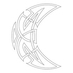 Celtic moon tattoo stencil for tattooists Celtic Tribal, Celtic Art, Celtic Symbols, Body Art Tattoos, Tribal Tattoos, Jagua Tattoo, Tattoo Mond, Knot Tattoo, Celtic Knot Designs