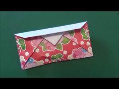 """「おさいふ」使える折り紙""""Wallet""""origami - YouTube"""