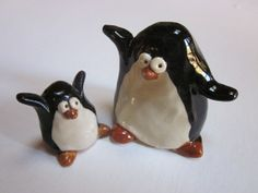 Ceramic Penguins by AnnYoungStudio on Etsy, $20.00