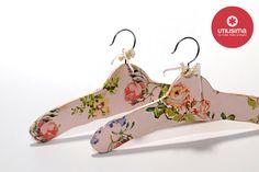 Perchas estampadas, por Agustina Gallo. Hecho en casa. http://www.utilisima.com/manualidades/8753-perchas-estampadas.html