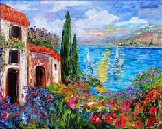 oil paintings amalfi coast - Cerca con Google
