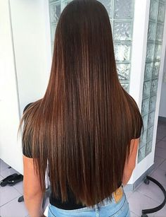 The trend of girls'straight hair style in 2019 is pure and charming. Girls' straight hair is generous and charming. Long Hair Dos, Long Brown Hair, Long Layered Hair, Very Long Hair, Beautiful Long Hair, Gorgeous Hair, Sleek Hairstyles, Kid Hairstyles, Natural Hairstyles