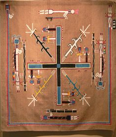 navajo sand paintings | Description Gilcrease - Navajo Sandpainting Rug-2.jpg
