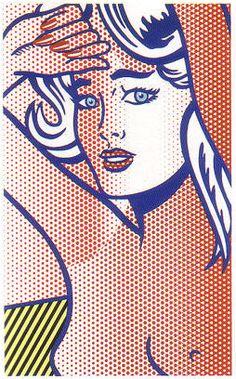 New Focus On | Puccio Fine Art | Roy Lichtenstein - Nude With Blue Hair, State I