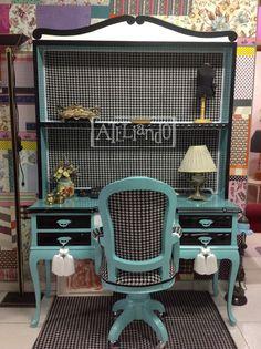 Ateliando - Customização de móveis antigos: Home Office Marcelle