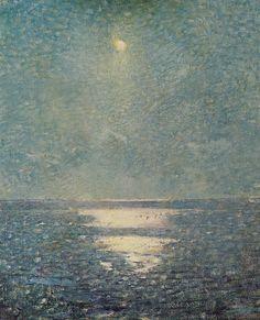 Moonlight on the Sea (Moonlight on a Calm Sea) - Emil Carlsen , 1916