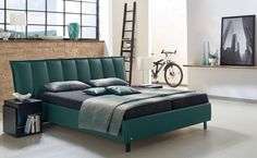 Green leather bed - Contemporary Headboard Ideas for your Modern Bedroom