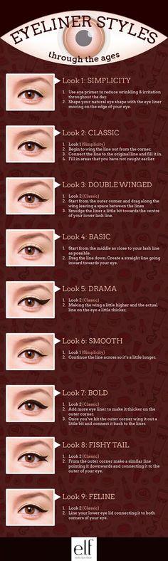 Top 7 Tips For Applying Liquid Eyeliner.Perfect Eyeliner : How To Apply Eyeliner The Right Tips for Applying Eyeliner Perfectly.How to properly apply eyeliner.Different ways to wear eyeliner