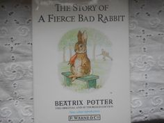 Beatrix Potter. The Story of a Fierce Bad by MarginaliaBooks