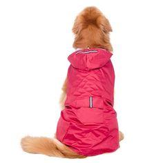 ab2bb5bcaab Elite fashion Nylon waterproof fabric hooded dog raincoat