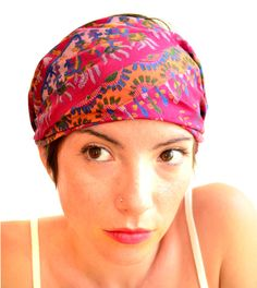 Wide Bohemian turban headband  hair wrapp Recycled by tocamade, $18.00