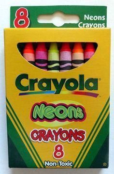 Discontinued box design - Crayola Crayons - 'Neons '  #Crayola