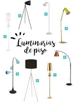 Onde comprar luminárias de chão / piso para decorar cantinhos de leitura. veja mais clicando na imagem!